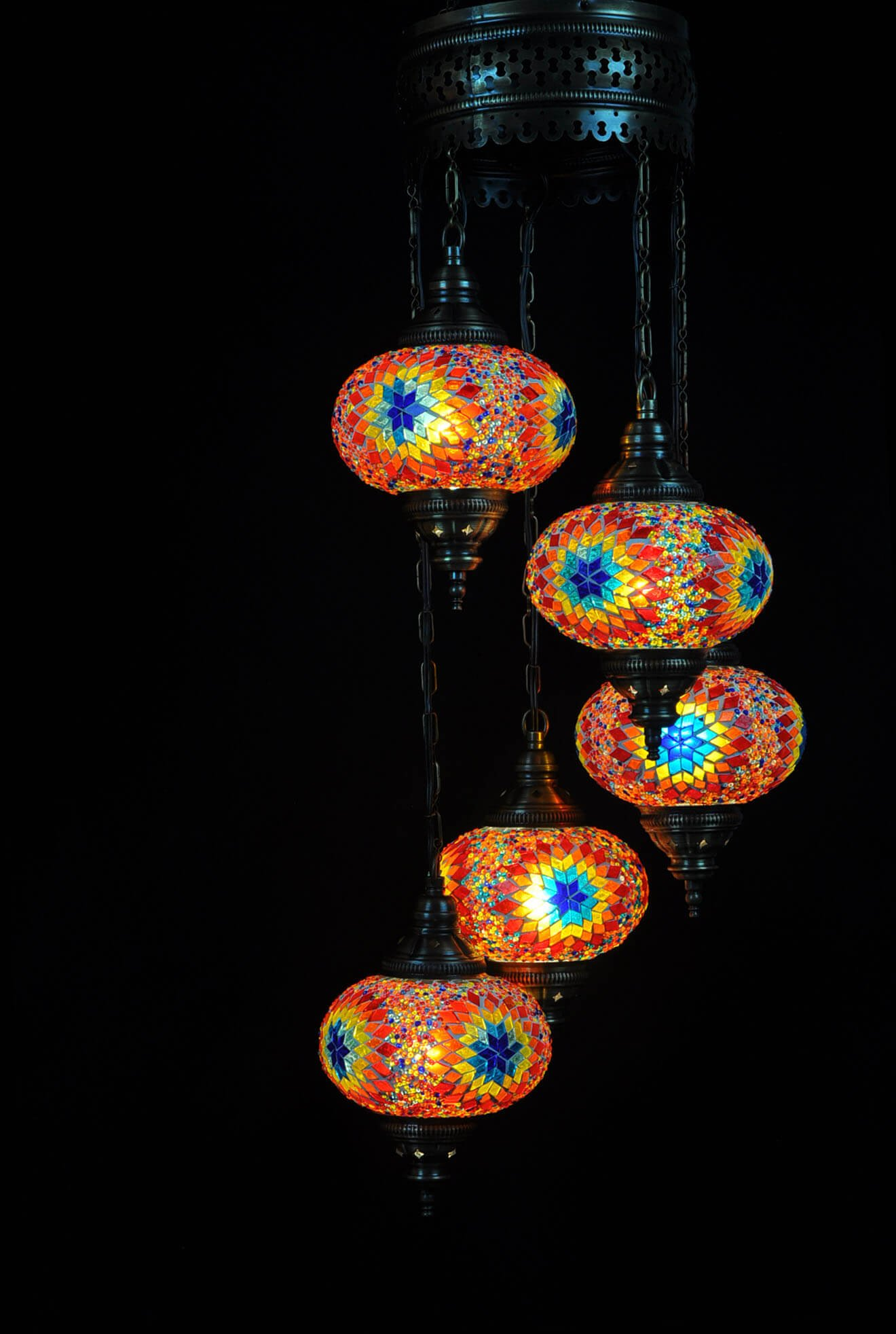 Purchase your Turkish light multicolor at our online shop Oriental Lights