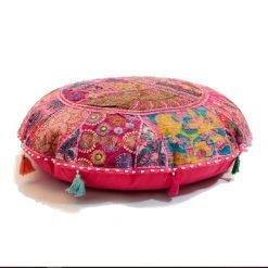 Ibiza bohemian cushion pink