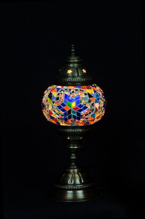 Mosaic table lamp multicolor - oriental-lights.com