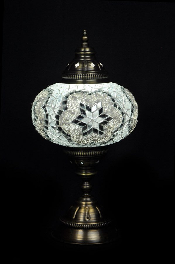 Turkish table lamp white - oriental-lights.com