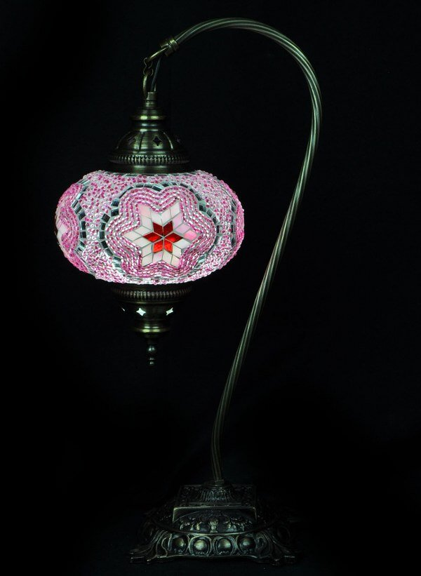 Pink Turkish table lamp - oriental-lights.com