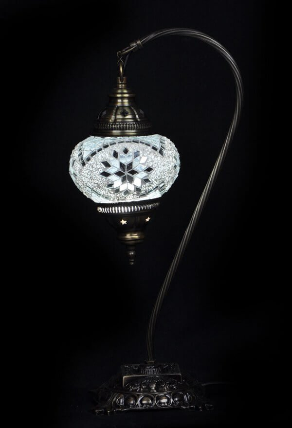 White Turkish table lamp - oriental-lights.com