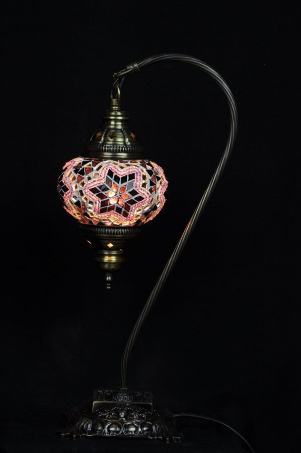 Purple Turkish table lamp - oriental-lights.com