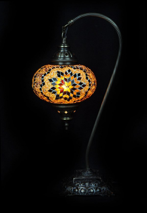Brown Turkish table lamp - oriental-lights.com