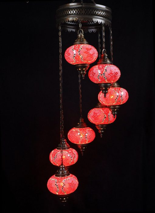 Oriental light red 7 spheres - oriental-lights.com