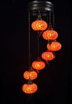 Oriental light orange 7 spheres - oriental-lights.com