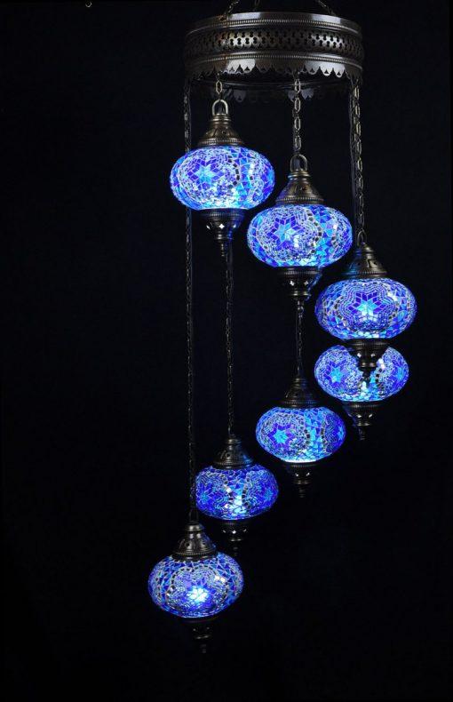 Oriental light blue 7 spheres - oriental-lights.com