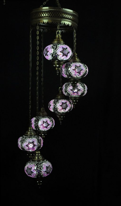 Oriental light purple 7 spheres - oriental-lights.com