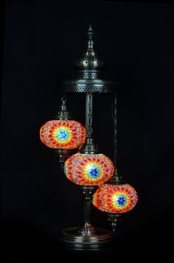 Turkish floor lamp multi colour 3 spheres - oriental-lights.com