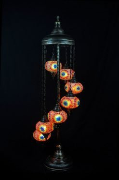 Turkish floor lamp multicolour 7 spheres - oriental-lights.com