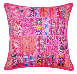 Ibiza bohemian throw pillow pink