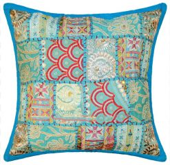 Ibiza bohemian cushion throw pillow turquoise