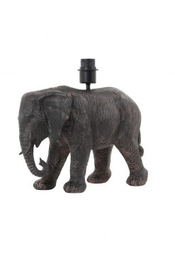 Lamp base ELEPHANT 37x17x35 cm antique brown by Oriental Lights
